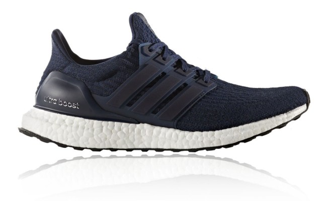 Adidas Ultra Boost Mens Blue Sneakers Running Road Sports