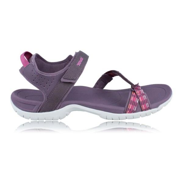 Teva Verra Womens Pink Purple Velcro Walking Outdoors Sandals Summer Shoes
