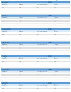 Weekly meal planner screenshot also printable and menu templates rh spreadsheet