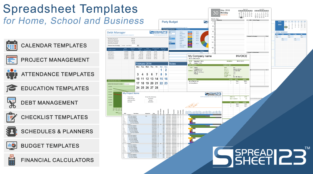 Excel Templates, Spreadsheets, Calendars and Calculators