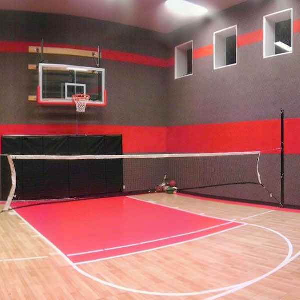 Minimum ceiling height for half court basketball for Custom basketball court cost