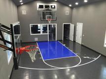 Home Gym with Basketball Court