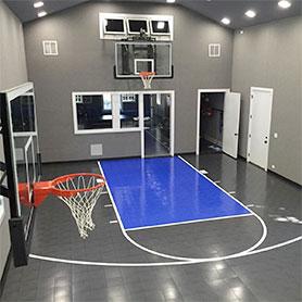 Indoor Home Gym Flooring  Residential Multisport Game Court