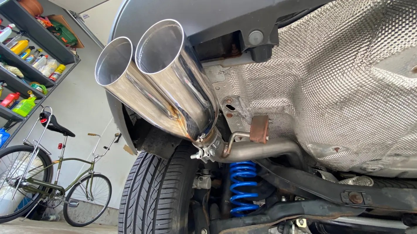 fswerks stainless steel stealth exhaust system ford focus tivct 2 0l 2012 2018 hatchback
