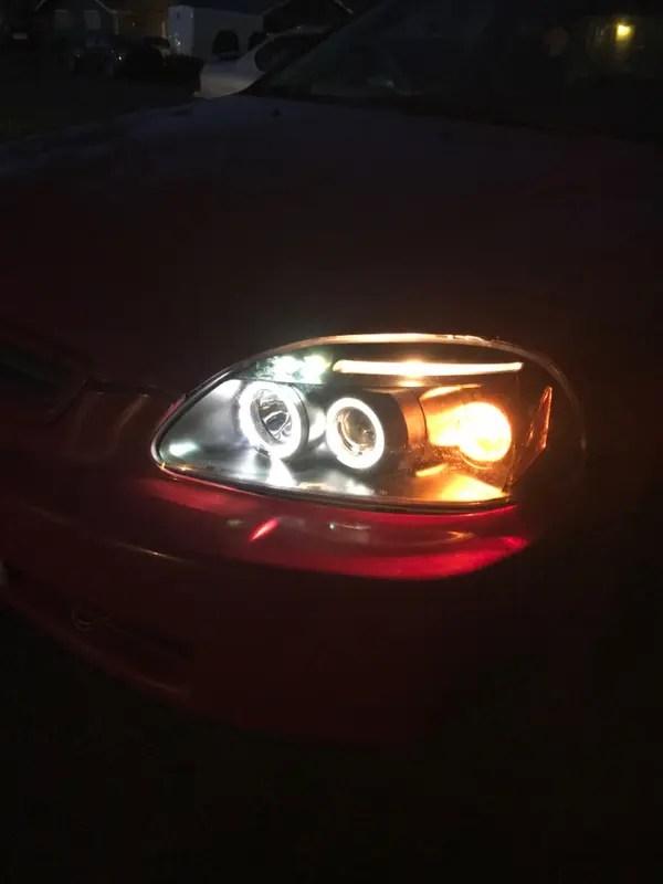 2000 Honda Civic Led Headlights : honda, civic, headlights, Spec-D, Projector, Headlights, Honda, Civic, [Dual, Halo], (96-98), Redline360