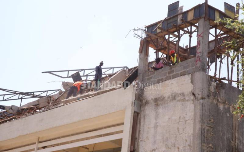 Scare as Jaramogi hospital new floor collapses - Standard Health