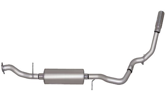 silverado sierra 1500 4 3l 4 8l 5 3l 02 06 stainless cat back single exhaust system gibson