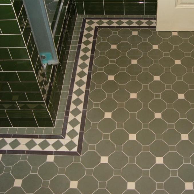 winckelmans octagon floor tiles green