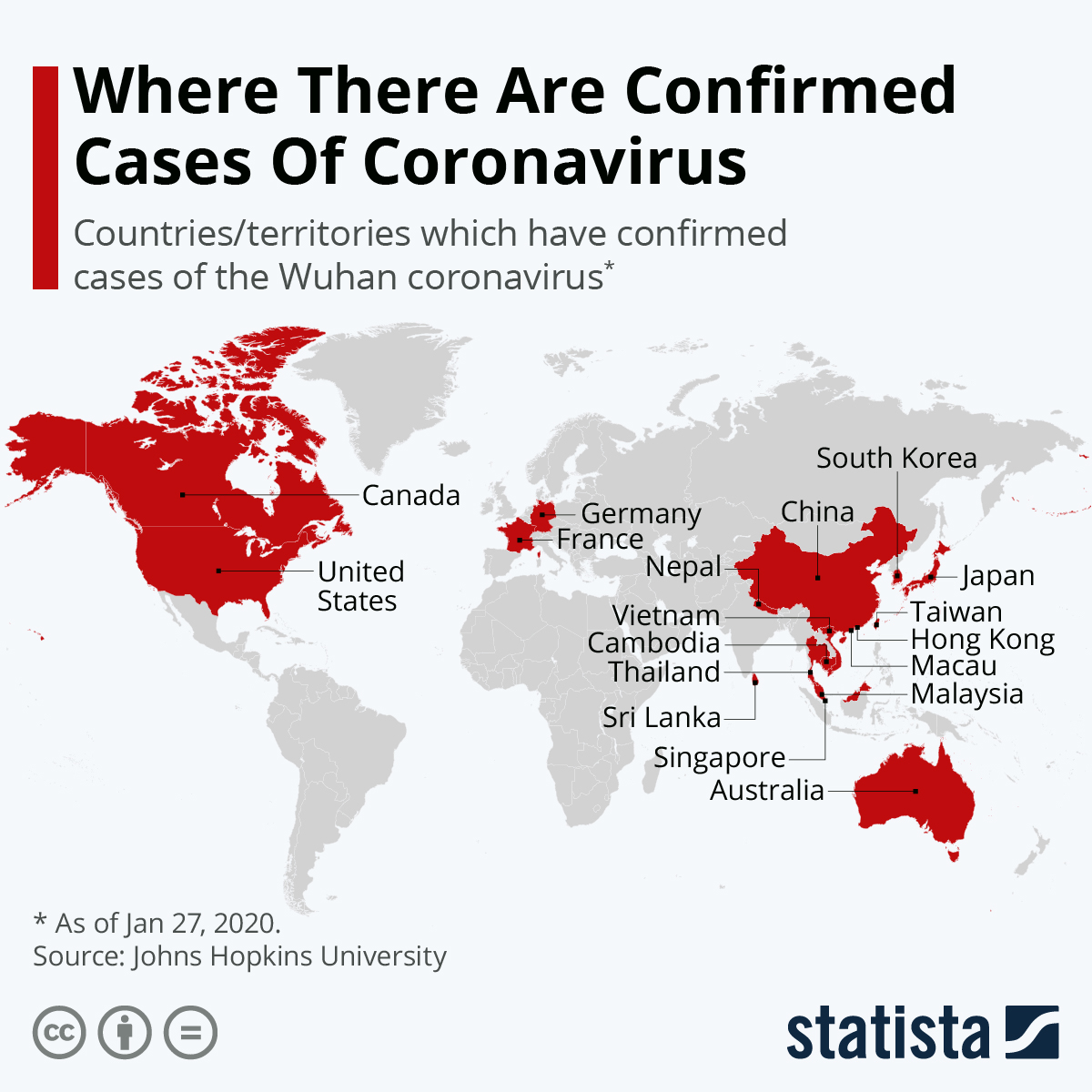 Chart: Where There Are Confirmed Cases Of Coronavirus | Statista