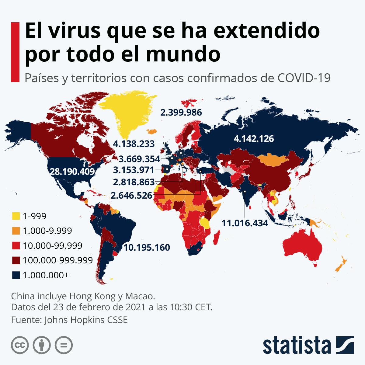 Gráfico: ¿A dónde se ha extendido el coronavirus? | Statista