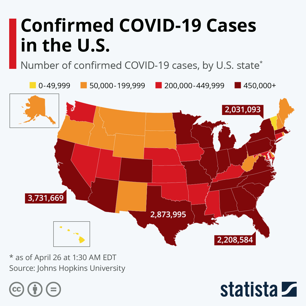 Chart: Where COVID-19 Has Been Confirmed in the U.S. | Statista