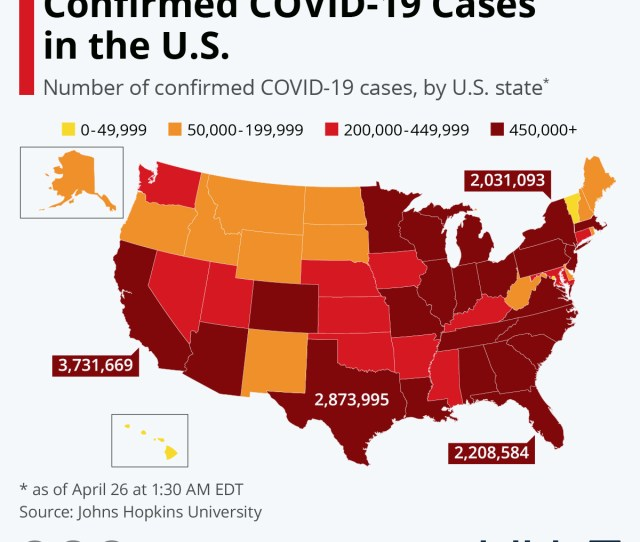 Chart Where Covid  Has Been Confirmed In The U S Statista