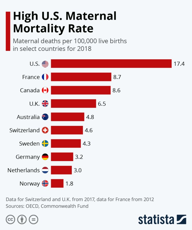 Infographic: High U.S. Maternal Mortality Rate | Statista