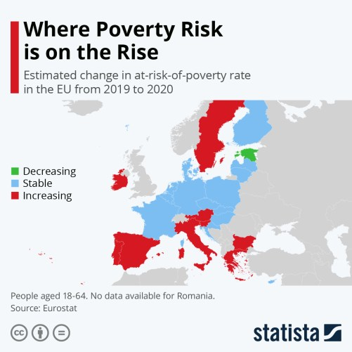 Infographic: Where Poverty Risk is on the Rise | Statista