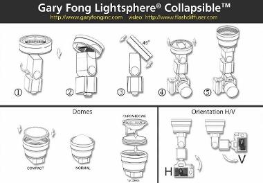 Gary Fong Lightsphere Collapsible Inverted Dome Diffuser