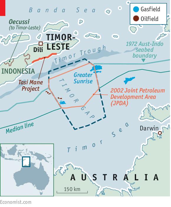 Resultado de imagem para timor leste austrália limite