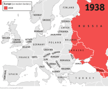 Map of Eastern Europe and Soviet Union 1938