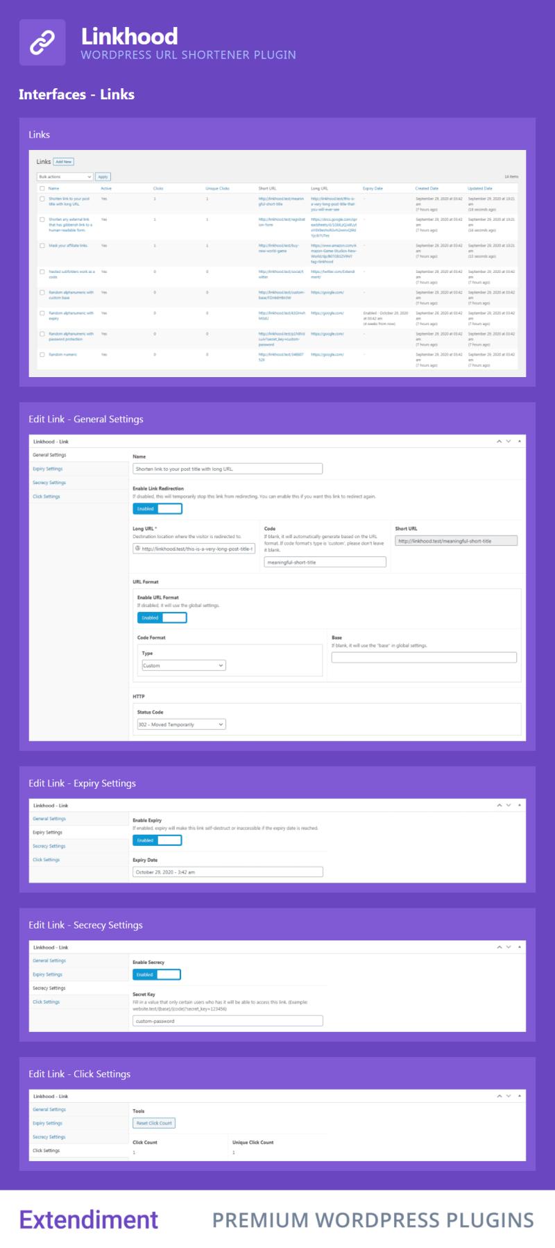 Linkhood - WordPress URL Shortener Plugin - 2