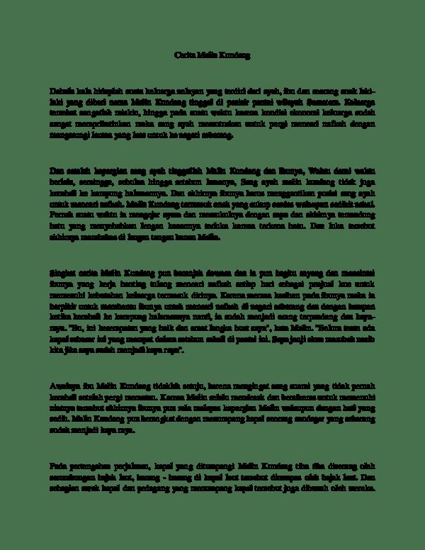 Contoh Cerita Rakyat Legenda Pendek Singkat 2019