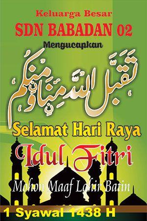 Spanduk Idul Fitri Cdr : spanduk, fitri, Banner, Selamat, Fitri, Untuk, Sekolah, Download
