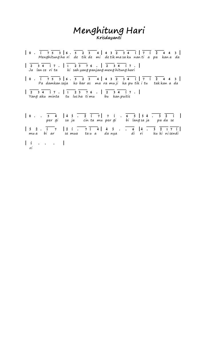 Chordtela Menghitung Hari : chordtela, menghitung, Chord, Menghitung