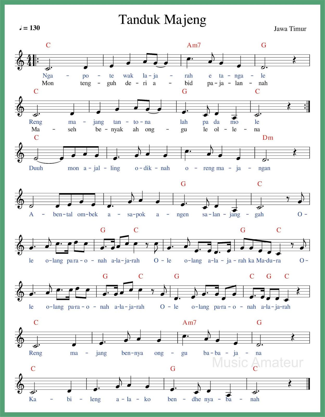 Lirik Lagu Tanduk Majeng : lirik, tanduk, majeng, Daerah, Timur, Tanduk, Majeng