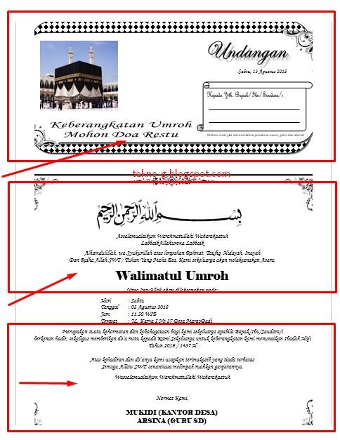 Contoh Undangan Syukuran Umroh : contoh, undangan, syukuran, umroh, Contoh, Undangan, Umrah