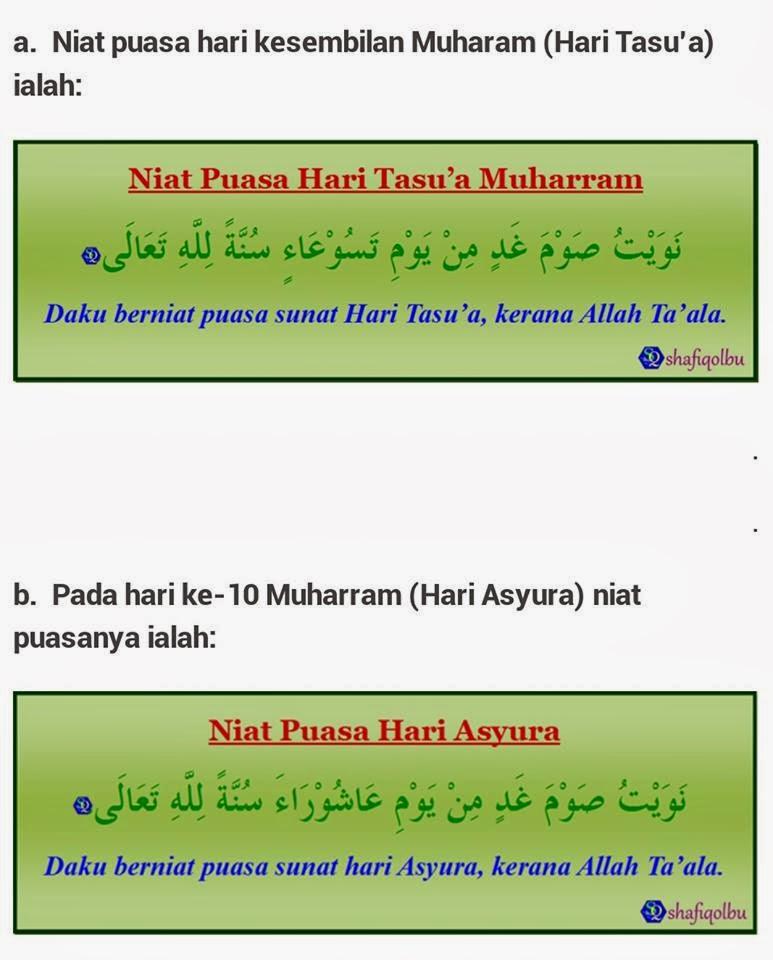 Niat Puasa Tasua Dan Asyura : puasa, tasua, asyura, Puasa, Qadha, Ramadhan, Sunnah, Asyura
