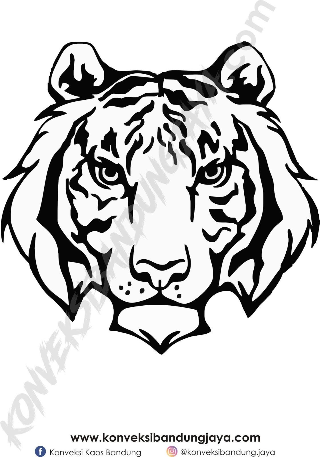 Gambar Harimau Hitam Putih : gambar, harimau, hitam, putih, Gambar, Kepala, Harimau, Hitam, Putih, Keren