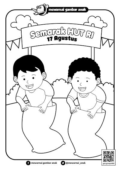 Animasi Lomba Balap Karung : animasi, lomba, balap, karung, Menggambar, Lomba, Balap, Karung
