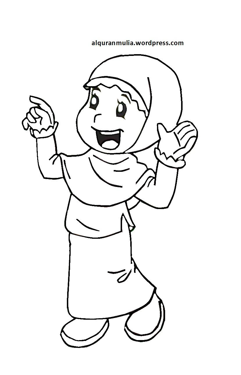 Gambar Yang Belum Diwarnai : gambar, belum, diwarnai, Gambar, Orang, Kartun, Untuk, Diwarnai