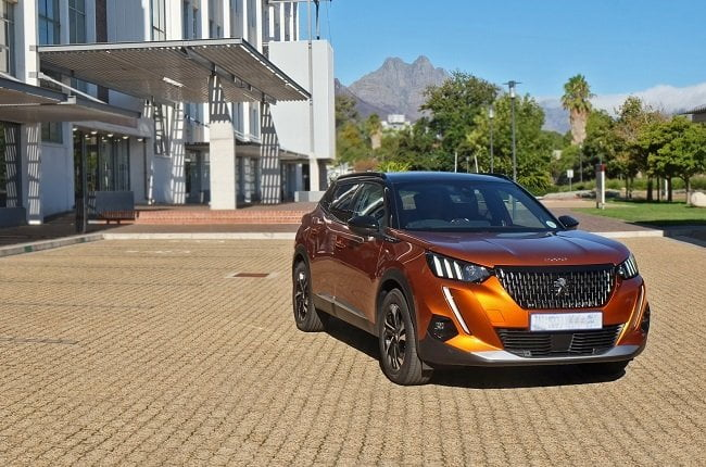 The new Peugeot 2008 in front of the Engineering Building of Stellenbosch University