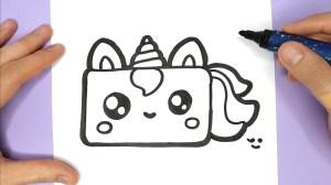 unicorn draw drawings cake drawing birthday happy things io