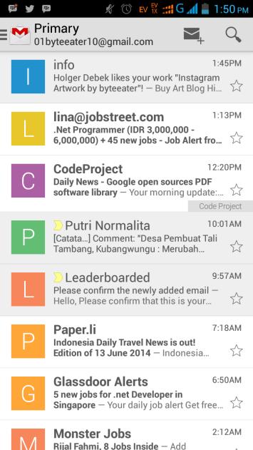 Google Mail, membaca email dari mana saja :)