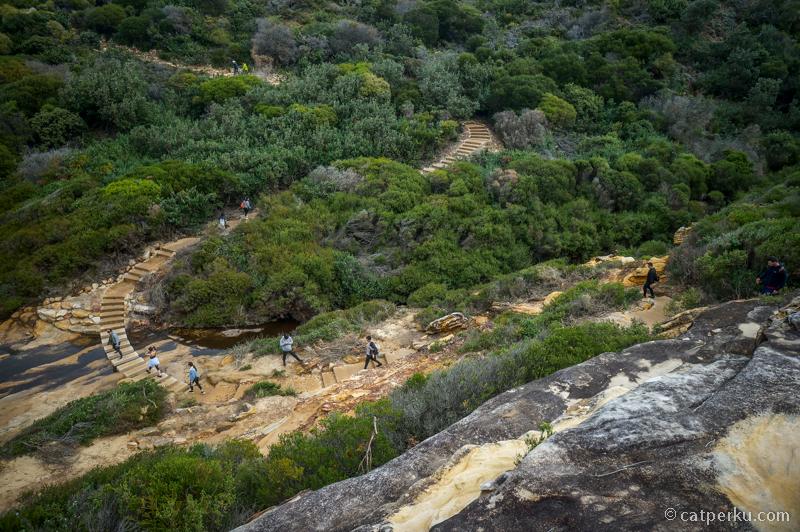 Jalurnya naik turun, meski nggak se-ekstrim jalur trekking Wentworth Falls