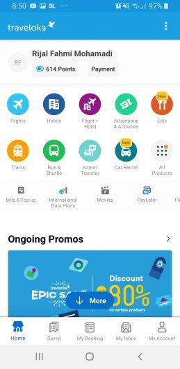 Kamu bisa mencoba menggunakan fitur Traveloka Multi City di aplikasi Traveloka di smartphonemu.