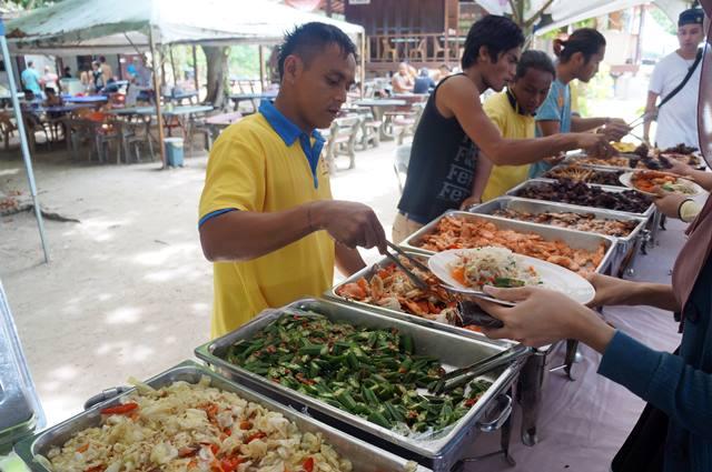 Menu makannya seafood semua~