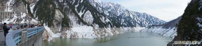 Pemandangan di sekitar Kurobe Dam