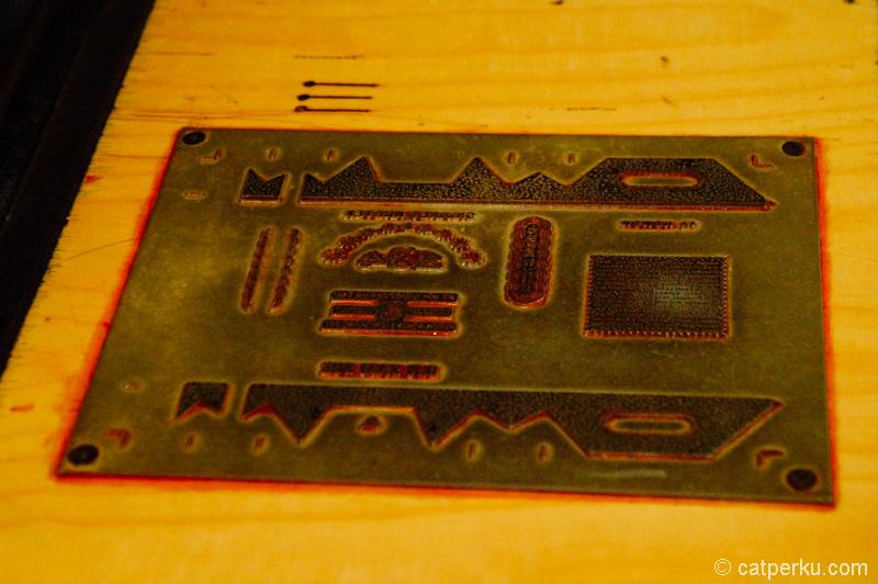 Plate untuk mencetak bungkus rokok jaman dahulu