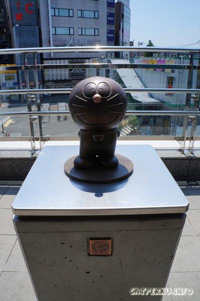 Kalau sudah menemukan patung Doraemon seperti ini, berarti arahnya sudah benar menuju Museum Doraemon.