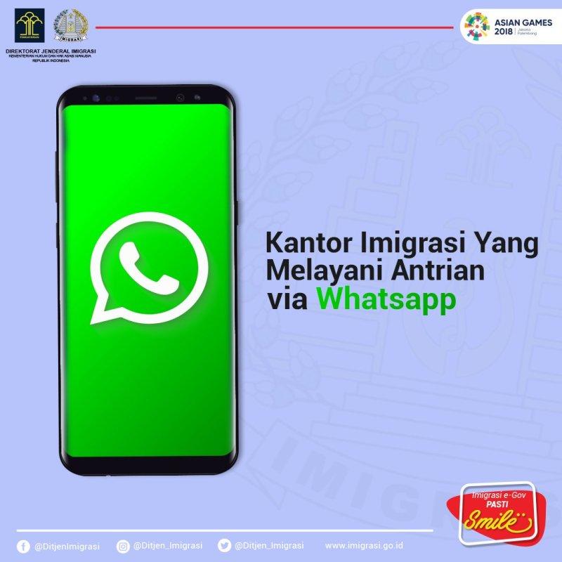 Tidak semua kantor imigrasi indonesia melayani cara buat paspor lewat whatsapp.
