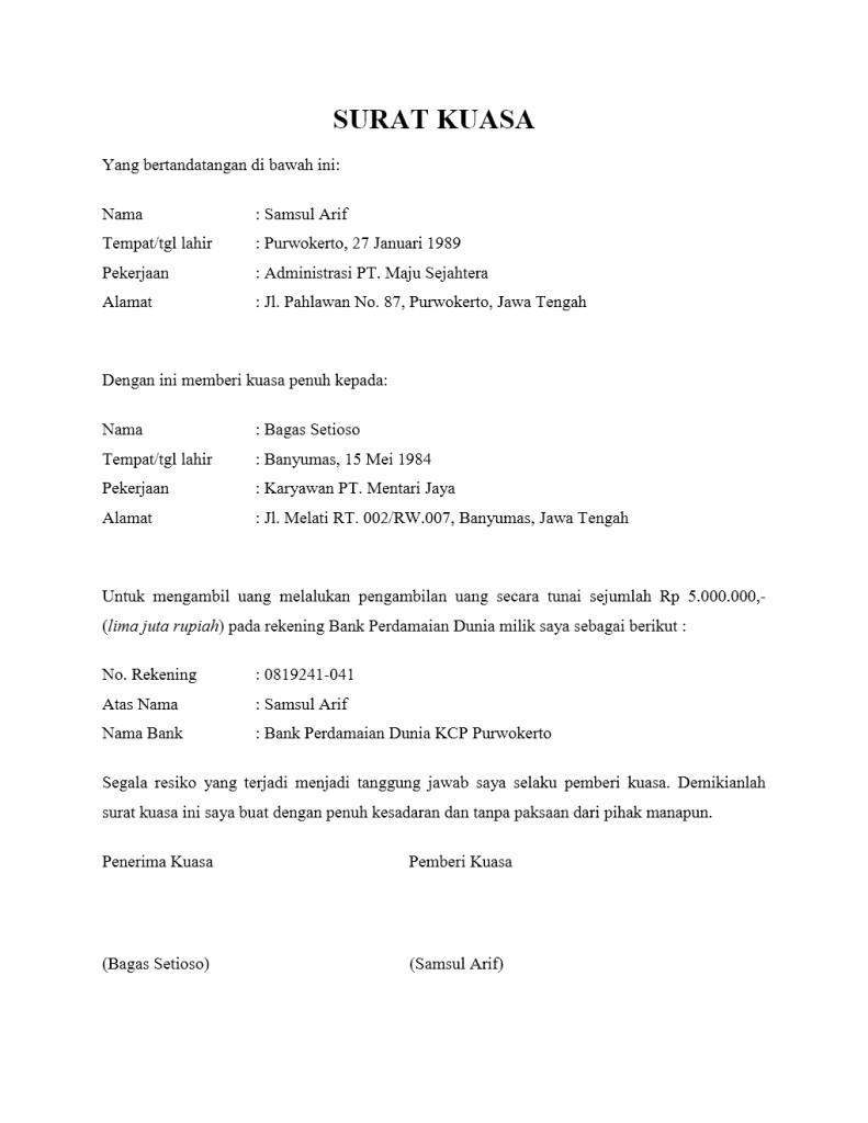 Surat Kuasa Pengambilan Barang : surat, kuasa, pengambilan, barang, Surat, Kuasa, Pengambilan, Belajar
