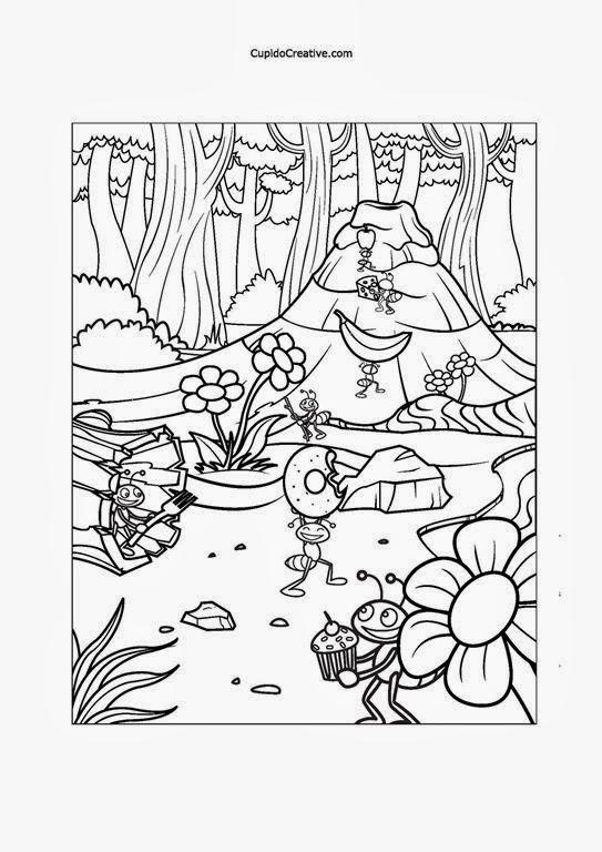 Cara Menggambar Semut : menggambar, semut, Gambar, Semut, Untuk, Mewarnai