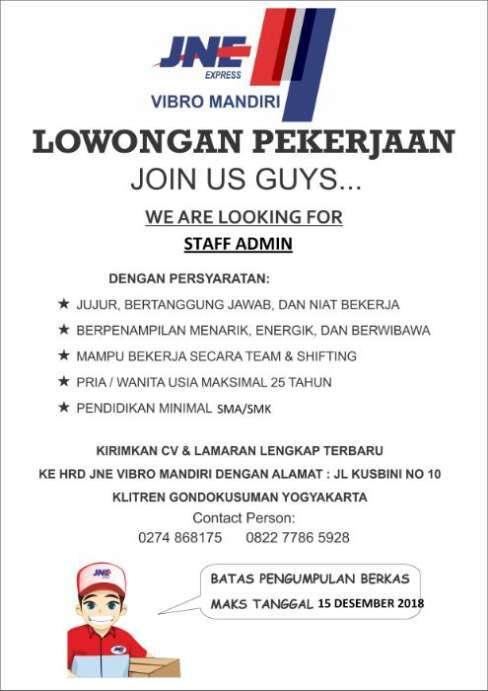 Loker Jne Bandung : loker, bandung, Syarat, Melamar, Kerja