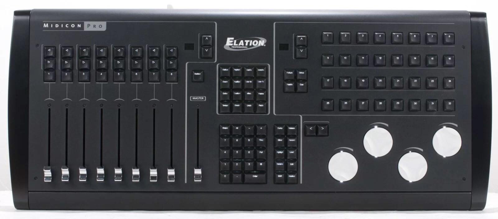 elation professional midicon pro midi usb lighting controller