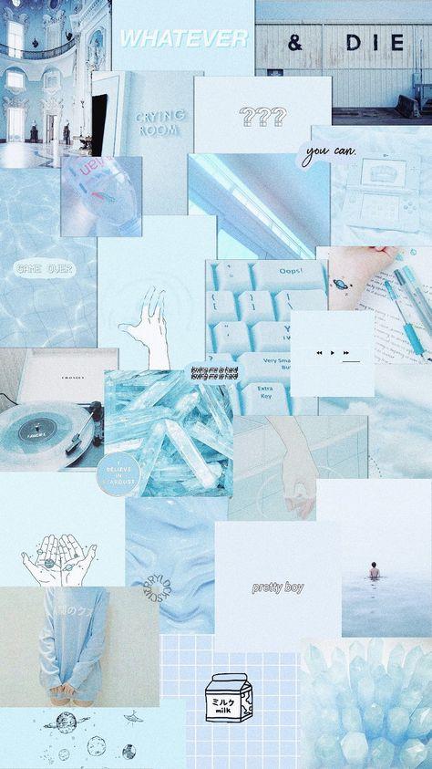 Vintage Blue Aesthetic : vintage, aesthetic, Iphone, Vintage, Aesthetic, Wallpaper
