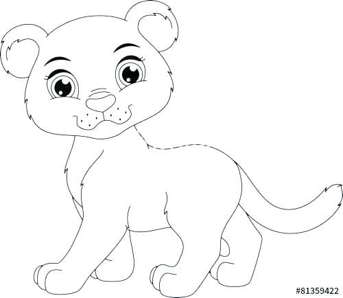 Baby Panther Coloring Page