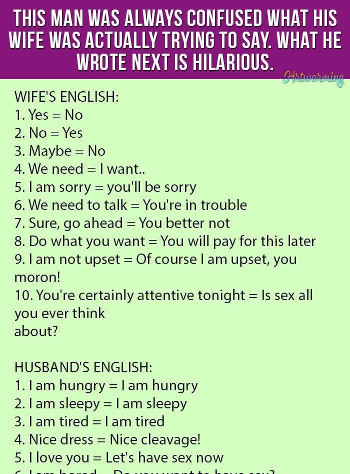 Husband And Wife Jokes In English : husband, jokes, english, Husband, Jokes, Images, English