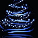 Christmas Wallpaper Black And Blue