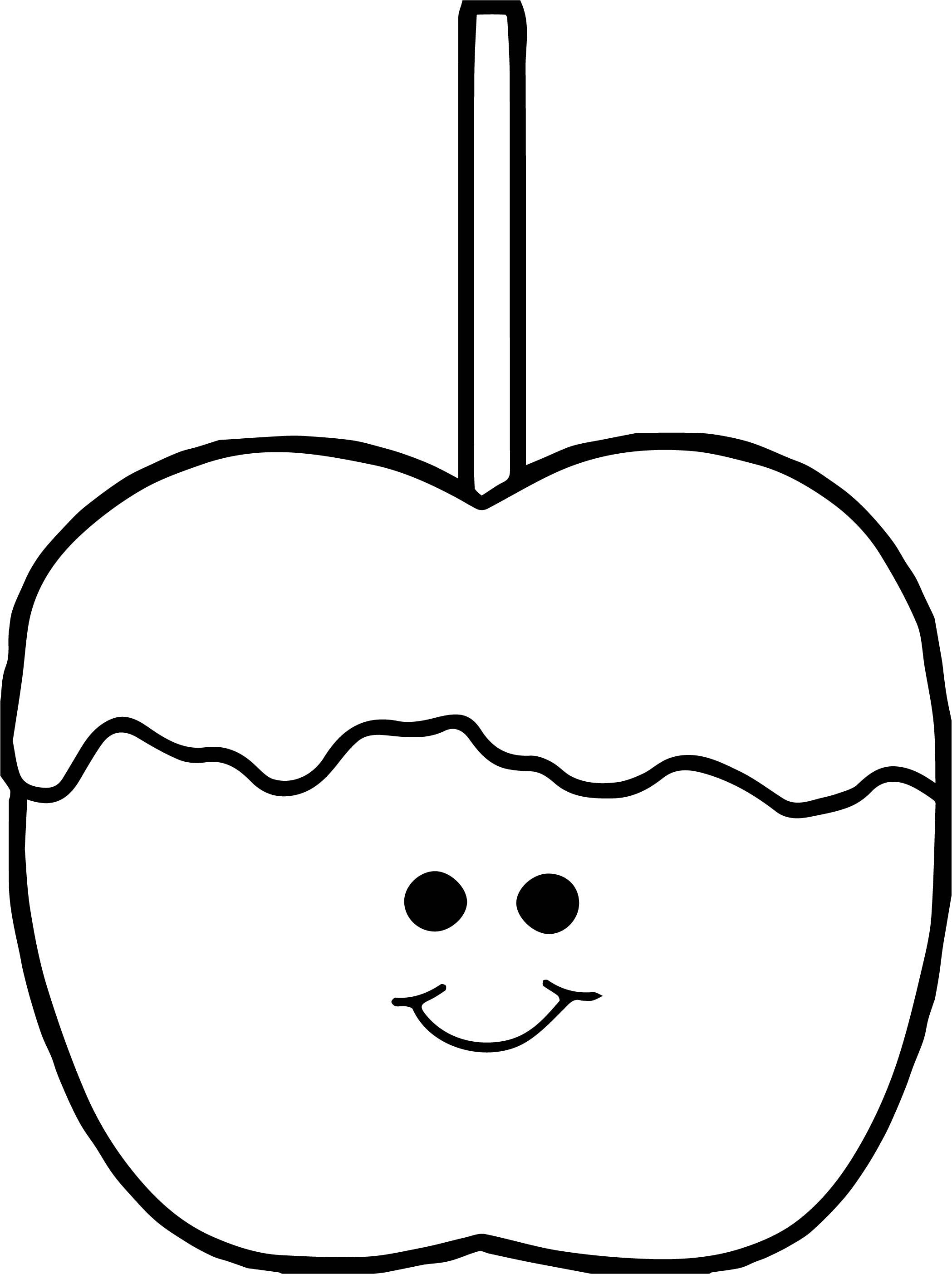 Picture Of Apple Coloring Page